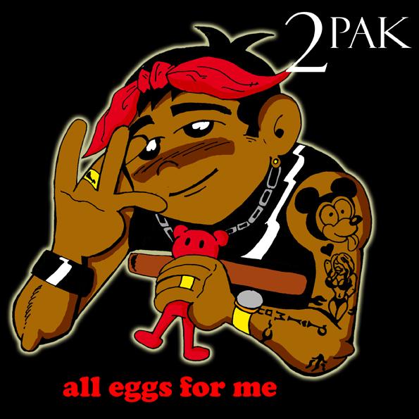 2Pac, Tupac, Shakur, West Coast, parodie