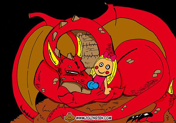 dragon rouge, poupee, tetine, mere des dragons