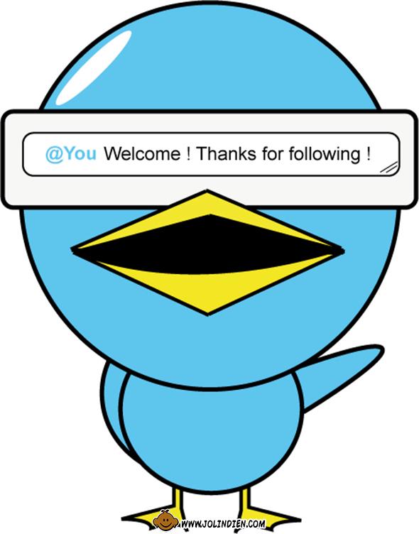 twitter, twittos, follower, oiseau, bleu, robocop