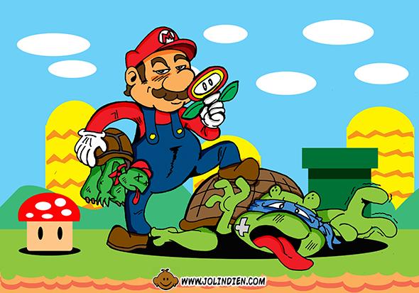 Mario Bros, tortues Ninja, Franklin, Sketch Dailies, parodie