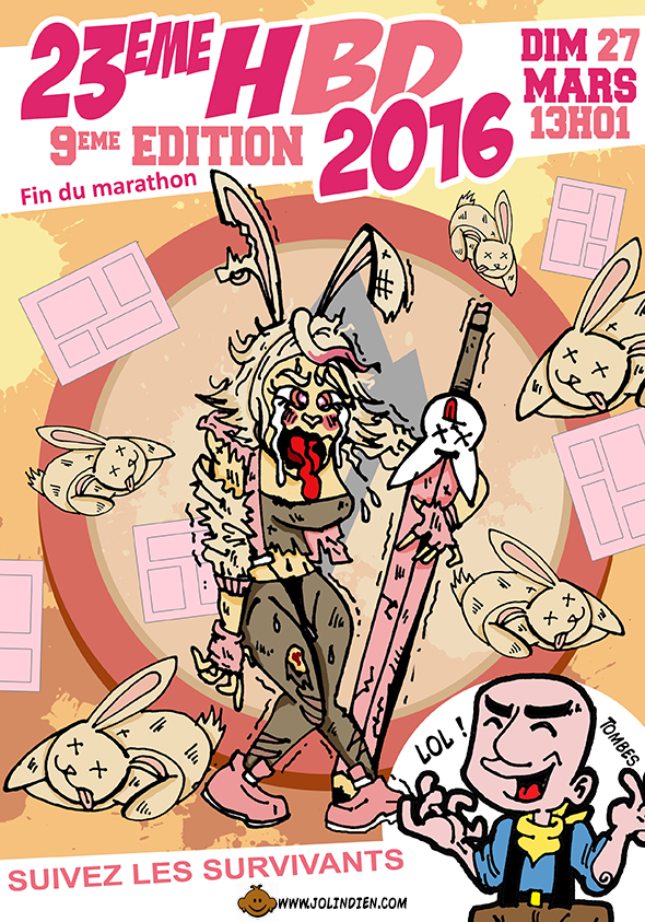 parodie des 23 heures de la bande dessinee 2016