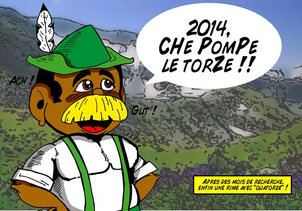 nouvel an 2014, tyrolien, moustache