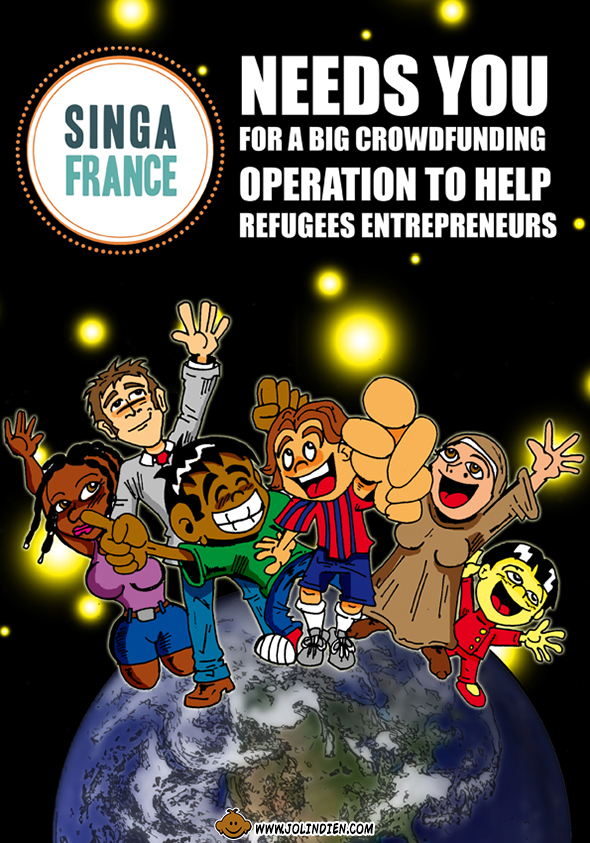 Singa, refugies, maroc, international, crowdfunding