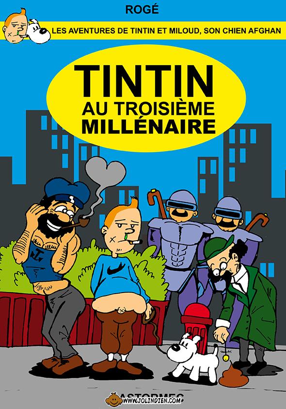 tintin, parodie, casterman, franklin, milou