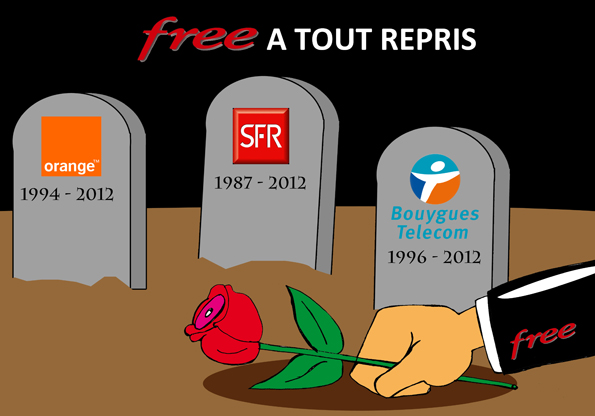 Free, Orange, SFR, Bouygues, Xavier Niel